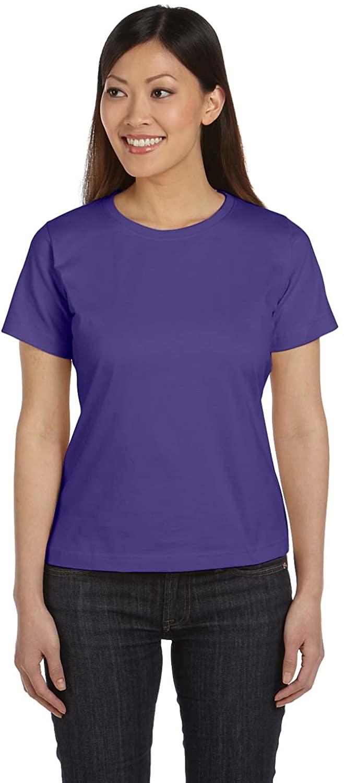 LAT Ladies Combed Ringspun Scoop Neck T-Shirt, Purple, XX-Large