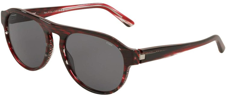 Sunglasses Starck eyes SH 5024 000681 Striped Black Red Pointille