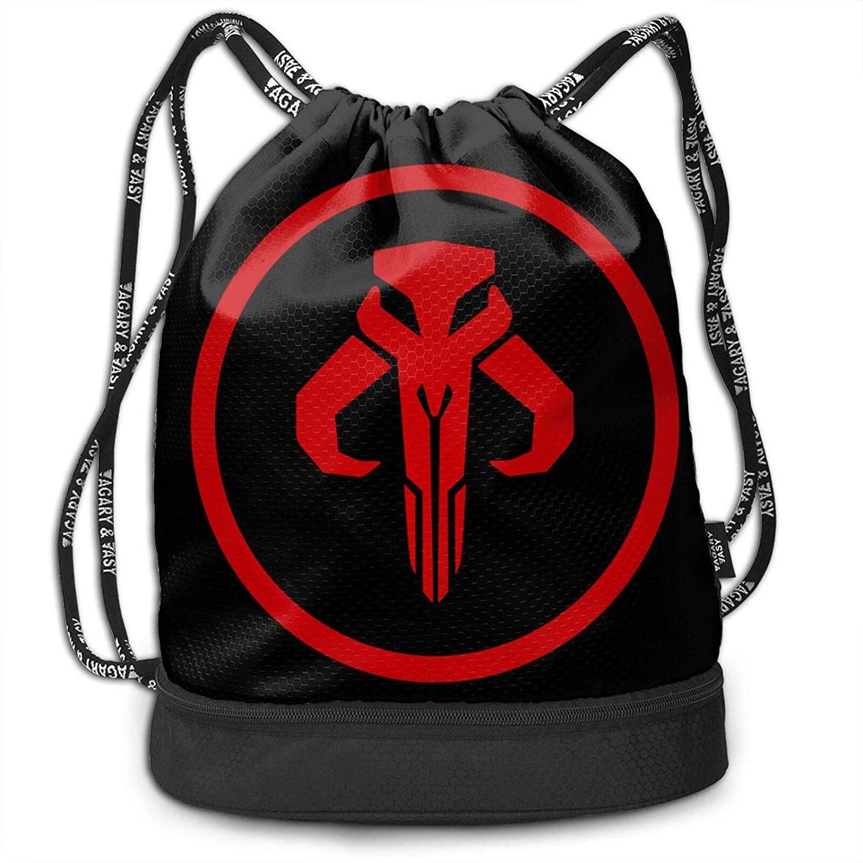 Shanke Mandalorian Drawstring Bags Multifunction Large Capacity Lightweight Simple Portable Funny Handbag