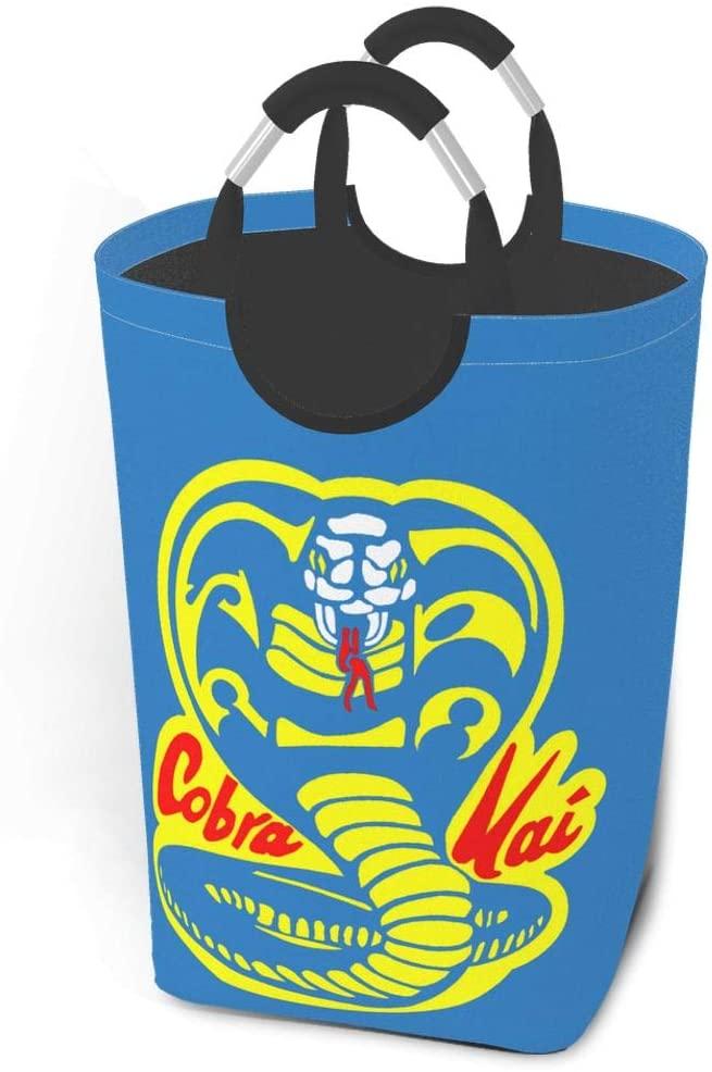 Wehoiweh 22.7'' Cobra Kai Dirty Clothes Laundry Basket,Waterproof Foldable Laundry Hamper
