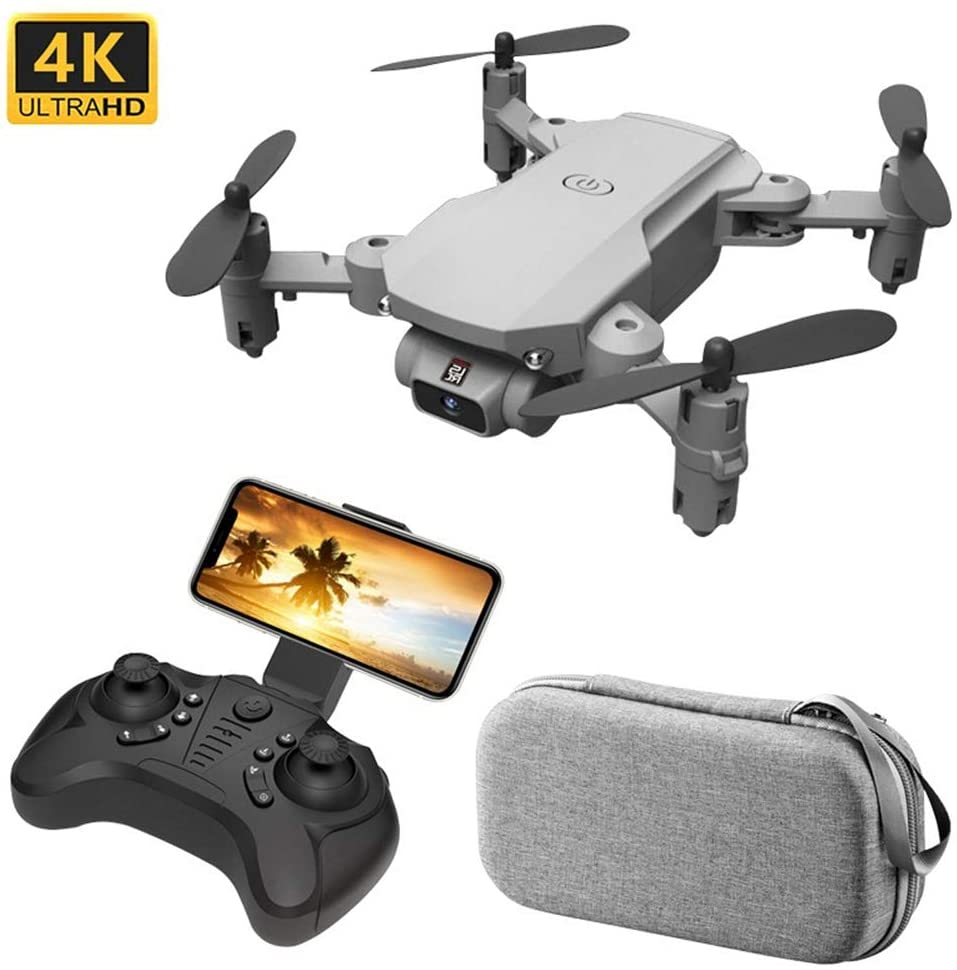 XIAOKEKE LS-Mini Drone with 4K HD Camera 4-Axis Self Stabilizing Gimbal WiFi FPV Video RC Quadcopter Auto Return Home, with Altitude Hold Headless Brushless Motor Remote Control