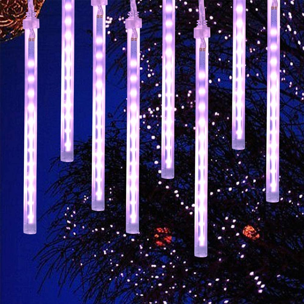 N\A Meteor Shower Lights, 10Tube 20 Inch Snowfall Led Lights, Waterproof Garden Lights for Halloween Christmas Holiday Tree Wedding