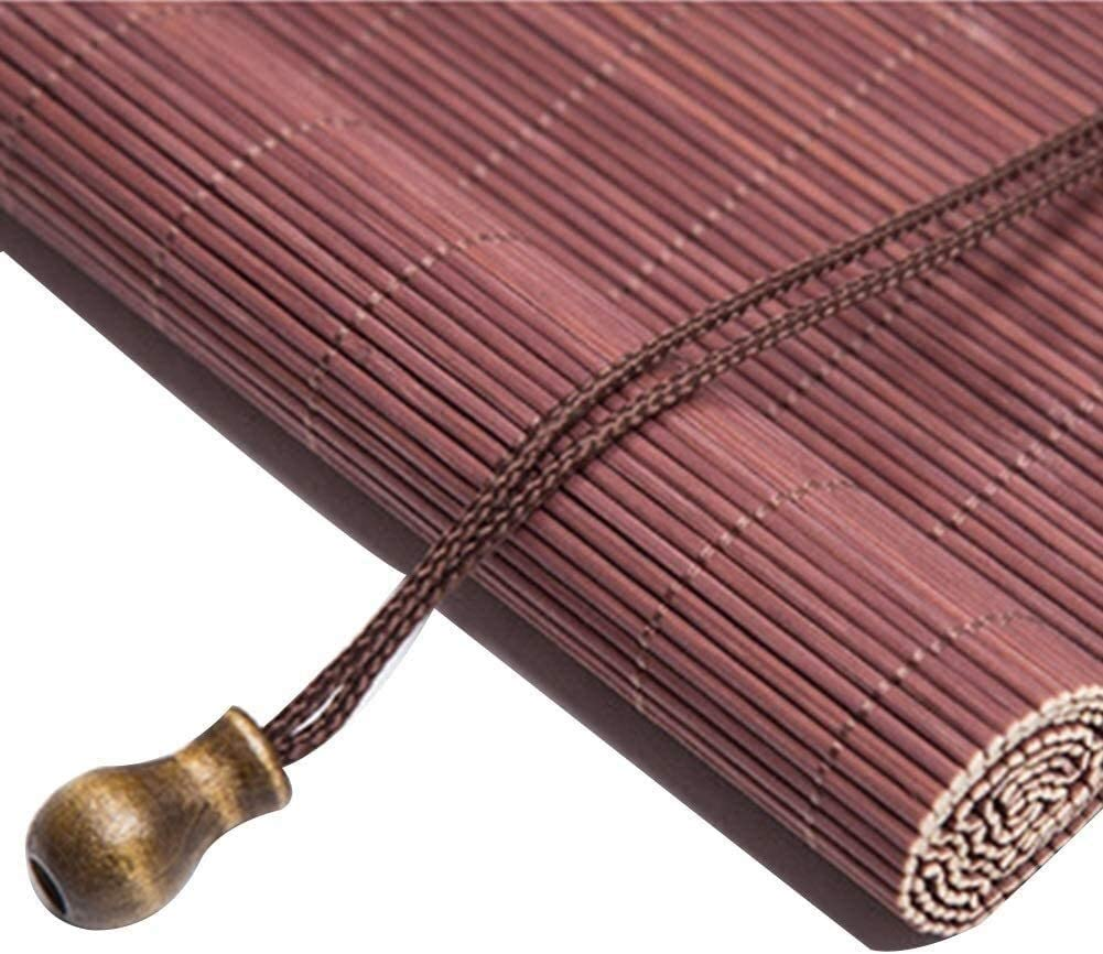 Old-Fashioned Straw Curtain Bamboo Roll Up Blinds Wooden Weaving Hanging Light Filtering Window Anti-UV Office Shadow Protection Household Door Garden Any Natural Reed Curtain (Size : 75x225cm)