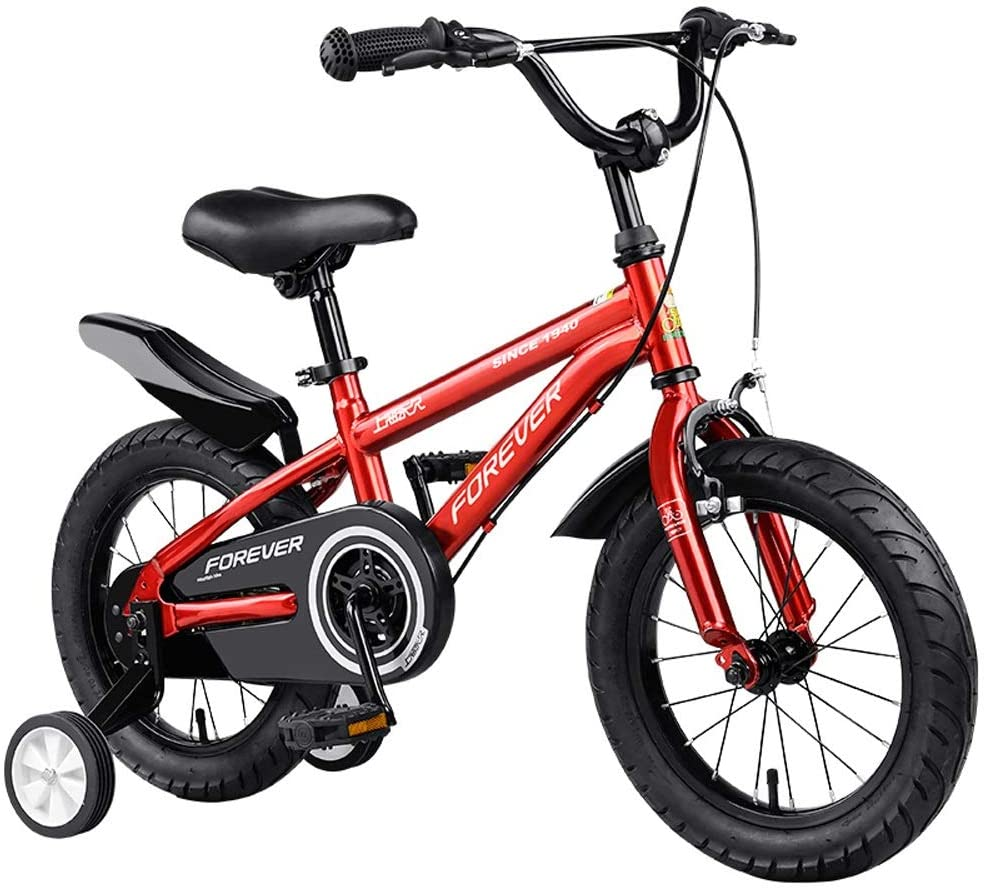 JZJSZB Kid's Bike for Boys and Girls, 12 14 16 18 inch with Training Wheels, with Kickstand (Size : 16)