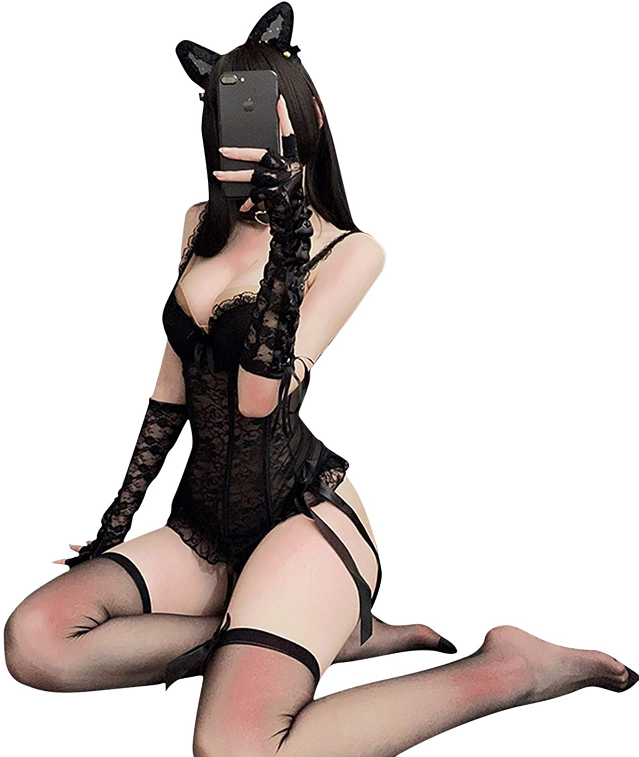 Sexy Lingerie Catwoman Role Playing Gathering Small Breast Uniform Temptation Passion Lingerie Couple Flirting Large Size Suit