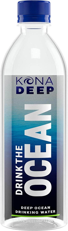 Kona Deep Pure Deep Ocean Electrolyte Mineral Water Bottles (500 ML), 24 Count