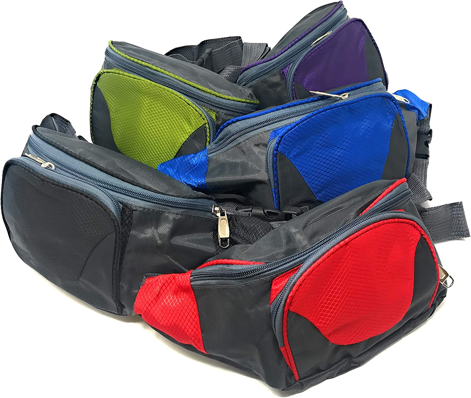 Bulk 5 Piece Travel and Hiking Fanny Pack Assortment