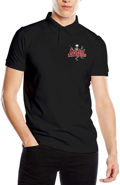 Social Distortion Men's Short Sleeve Polo Shirts Black