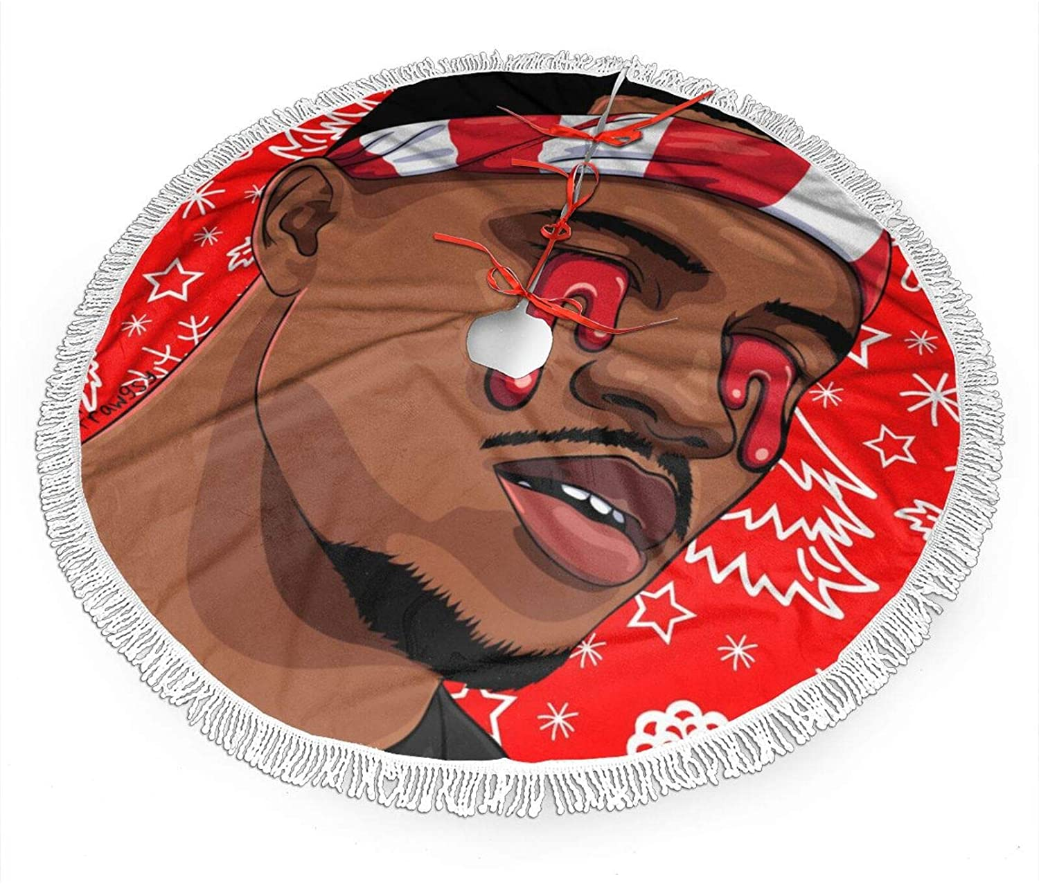 HYANGLIQGB Christmas Tree Skirt Frank Ocean Christmas Holiday Home Office Decorations   Christmas Indoor Outdoor Decorations   Christmas Halloween Holiday Party Decorations