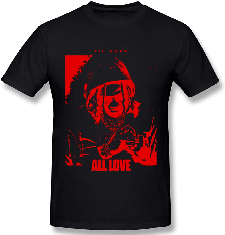 Lil Durk Mens Short Sleeves T Shirt Classic Soft Crew Neck T Shirts