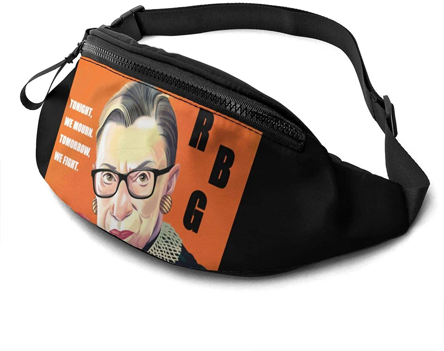 ATSH RBG Tonight, We Mourn. Tomorrow We Fight. Fanny Pack Running Waist Pack Bag Casual Super Lightweight Fanny Pack for Unisex