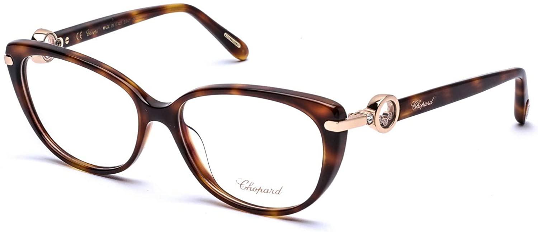 Eyeglasses Chopard VCH 247 S 752 Havana/23kt Gold Plated/Clear Demo Lens