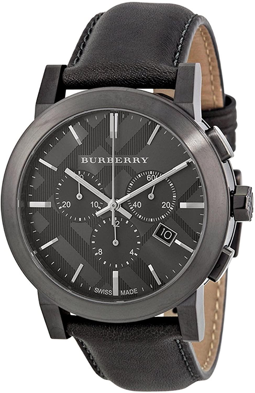 Burberry BU9364 The City Dark Grey Dial Grey Band Chronograph Men's Watch