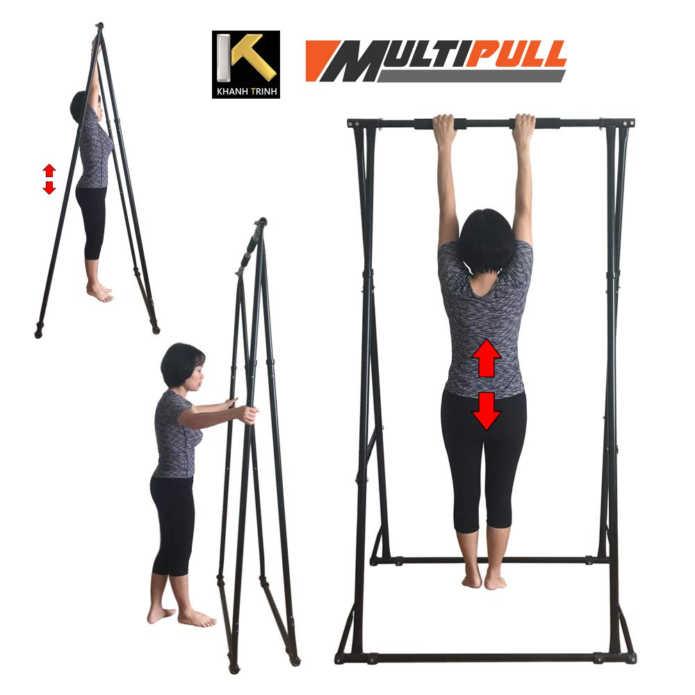KT Folding Stand Frame for users less than 6ft - The Most EFFECTIVE and Easy to use Lower Back Stretcher Device. Safe, Strong, Versatile, Height Adjustable and Durable Back Decompression Machine