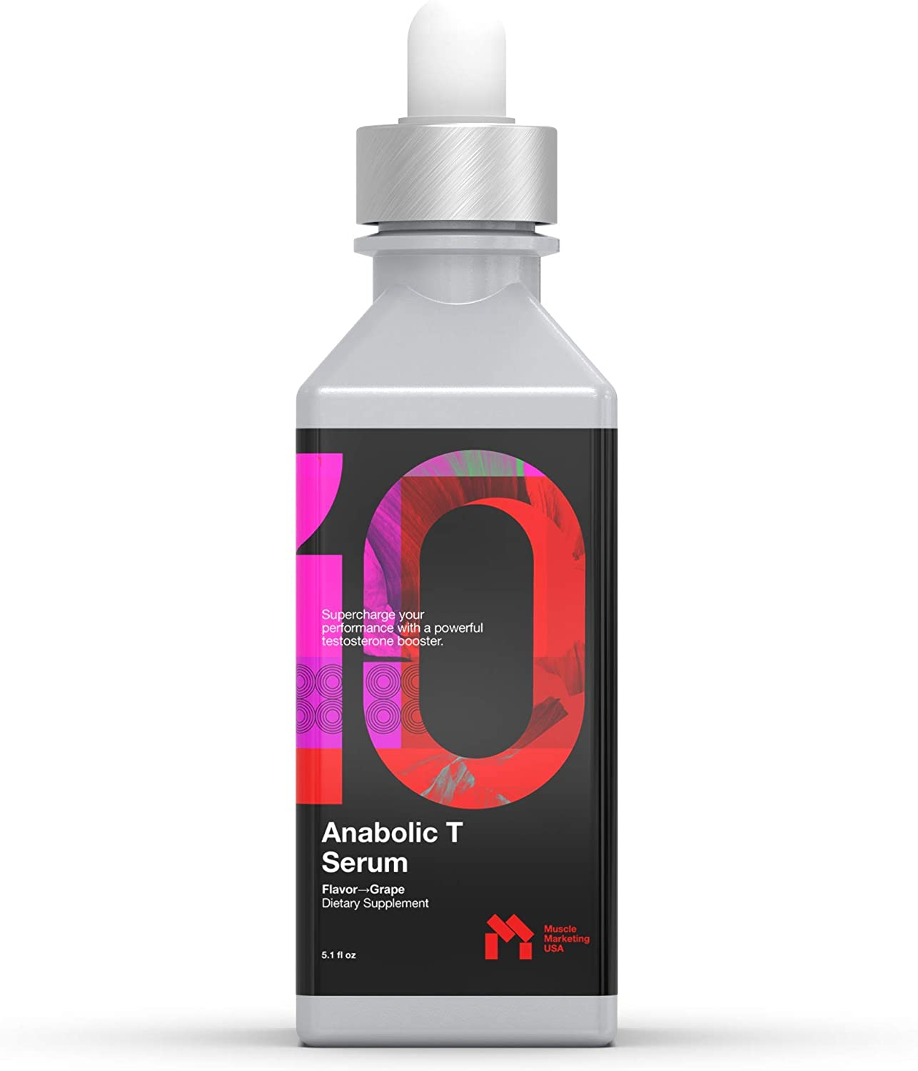 Anabolic T Serum: Testosterone Booster for Men, Increased Muscle Mass, Lean Body, Increases Energy, Boosts Free Testosterone Naturally, Strength + Stamina. Instant Absorption, Male Vitality + Libido.