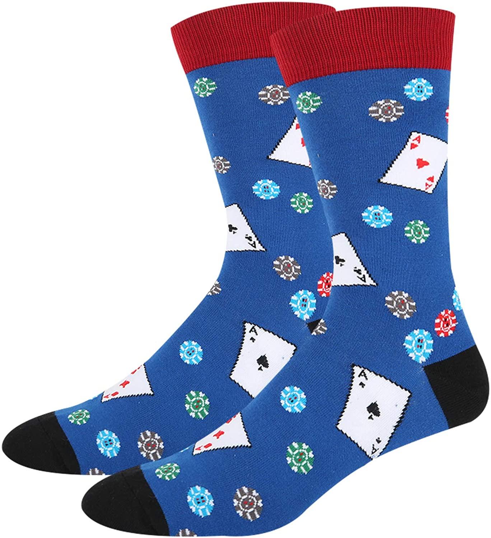 HAPPYPOP Men's Cake Taco Pizza Colourful Socks, Novelty Casual Socks Funny Gift