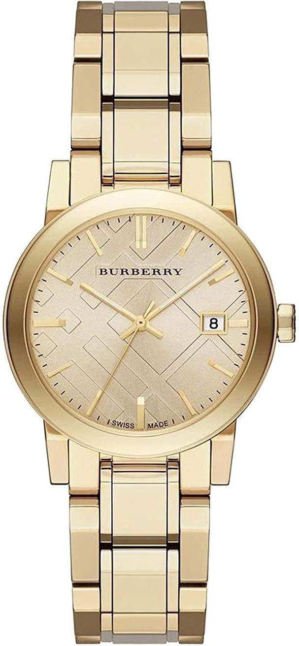 Swiss Rare Gold Date Dial 34mm Women Wrist Watch The City BU9134