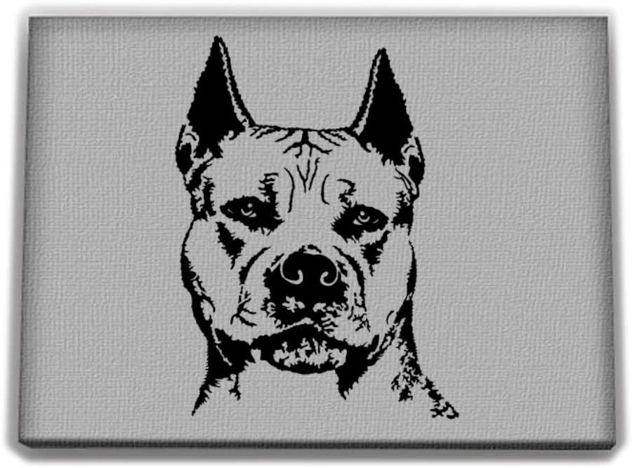 Idakoos American Pit Bull Terrier FACE Special Graphic Canvas Wall 12