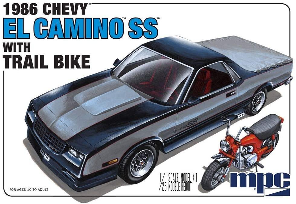 MPC 1986 Chevy El Camino SS w/ Dirt Bike 1:25 Scale Model Kit