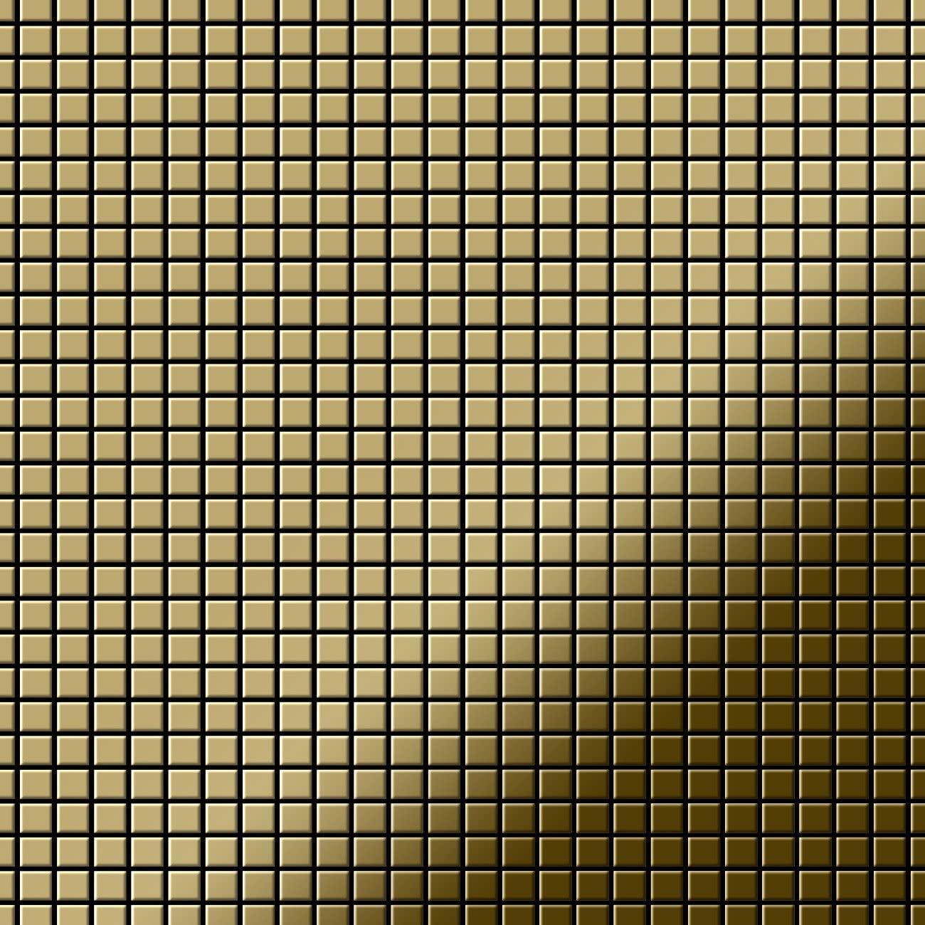 Mosaic Tile massiv Metal Titanium Gold Mirror Gold 1.6mm Thick ALLOY Glomesh-Ti-GM