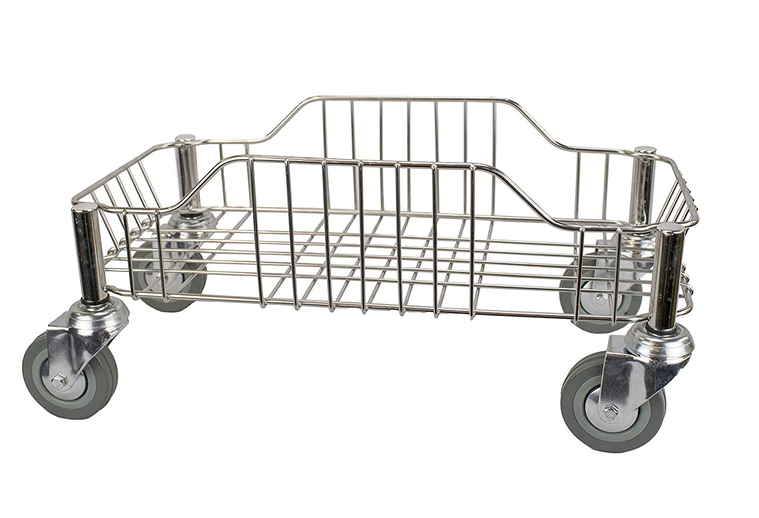 DHgateCommercial Stainless Steel Dolly for 23 Gallon Commercial Slim Trash Can