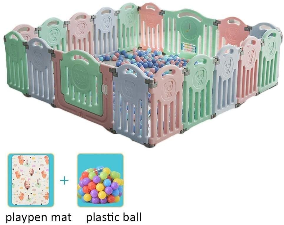Children's Fence Playpens Baby Playpen Twins Activity Center Extra Large Safety Play Plastic Ball Floor Mat Stable Safety Fence