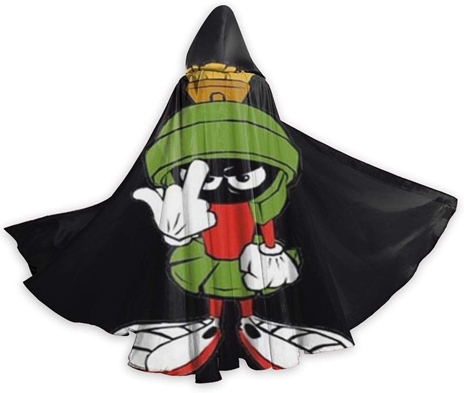 Adult Marvin The Martian Planet Halloween Christmas Party Hooded Cloaks Black