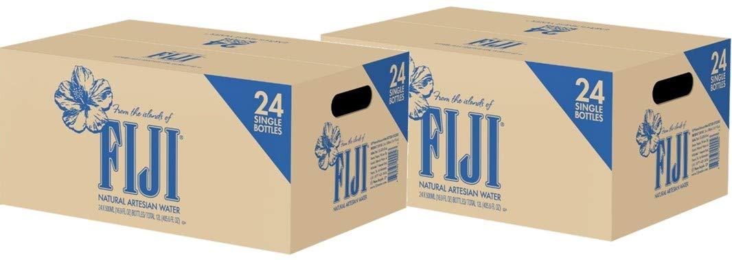 Fiji DGGFGHJ Natural Artesian Water, 16.9 Fl Oz (Pack of 24 Bottles) (2 Pack of 24)