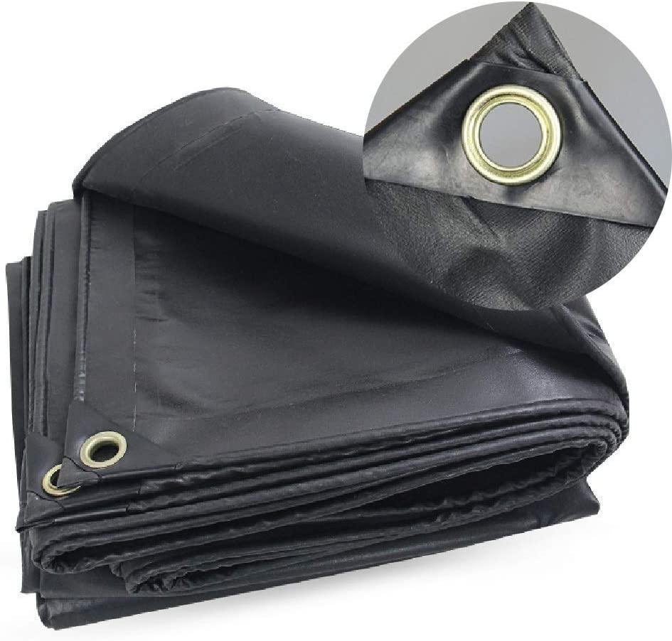 Large Heavy Duty Tarpaulin,Tarpaulin Heavy Duty Blackout Pool Cover with Grommets | Black Waterproof Tarps for Privacy Fence Screen, Blockage Windscreen Cover,Tarpaulin Waterproof Heavy Duty