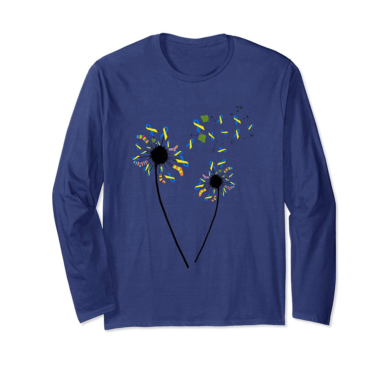 Down Syndrome Awareness Dandelion gift Long Sleeve T-Shirt