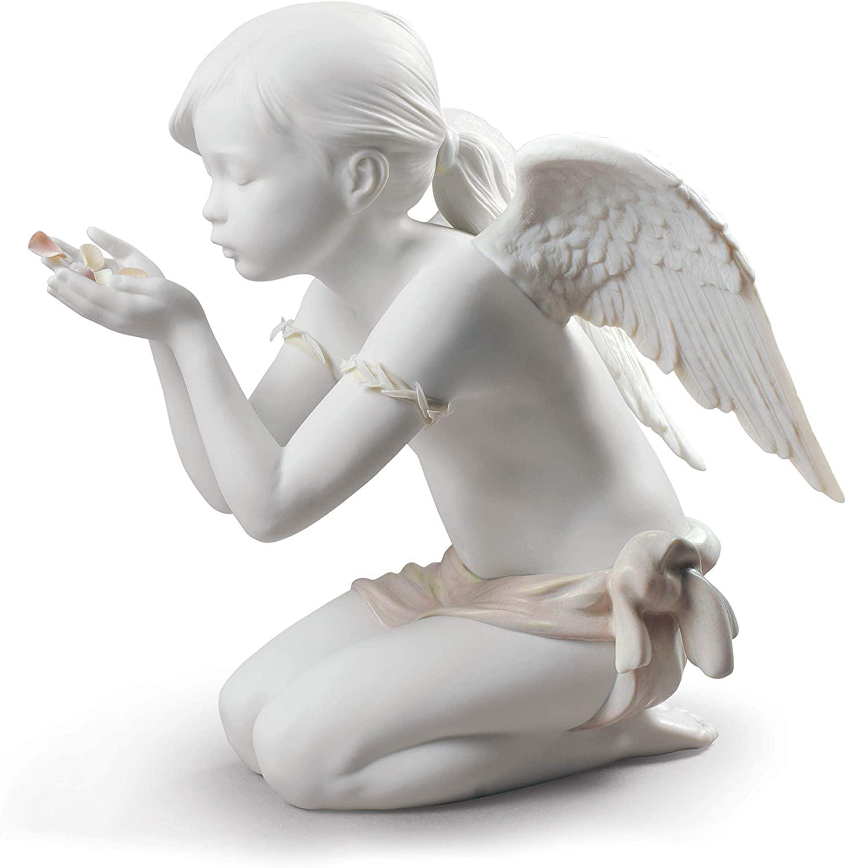 LLADRÓ A Fantasy Breath Angel Figurine. Porcelain Angel Figure.