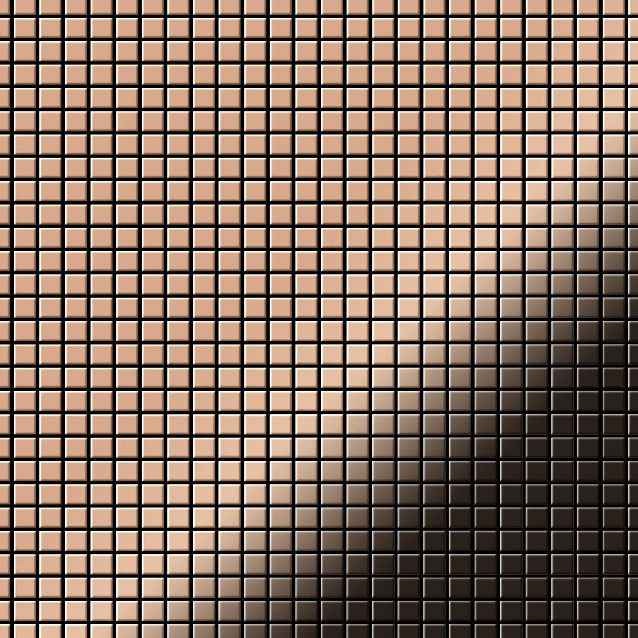 Mosaic Tile massiv Metal Copper Mill Copper 1.6mm Thick ALLOY Glomesh-cm
