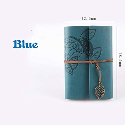 Office Supplies, Retro Diary Book, Office Supplies, Leather, Jersh-School&Office Supplies Daily Life School Diary Gift compision (Color : Blue)
