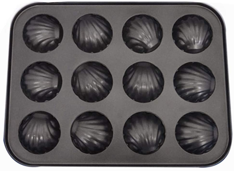 Non-Stick Mini- Baking Tray Pan 6-Cavity Cake Mold Shell Shaped Carbon Steel Mold Baking Mould Tools