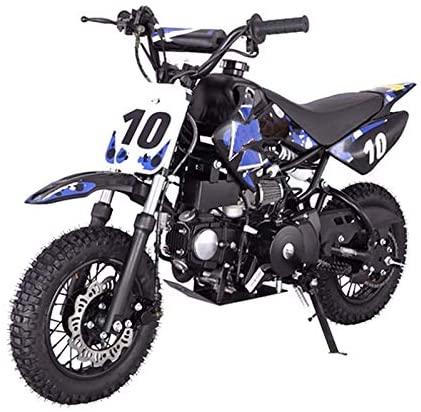 X-PRO 110cc Dirt Bike Pit Bike Youth Dirt Pit Bike 110 Dirt Pitbike,Blue