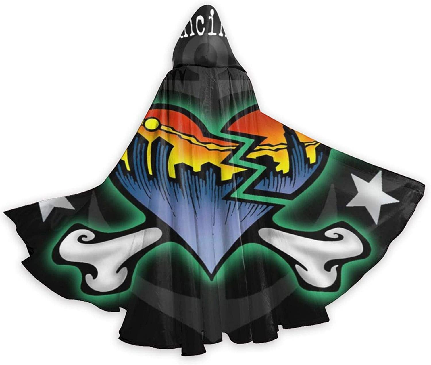 AP.Room Adult The Bouncing Souls Halloween Christmas Party Hooded Cloaks Black