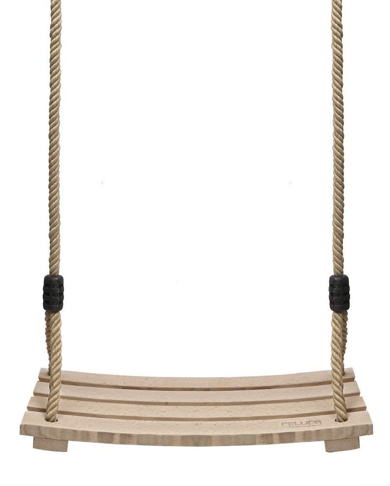 PELLOR Wood Tree Swing Seat,Indoor Outdoor Rope Wooden Swing Set for Children Adult Kids (16.5