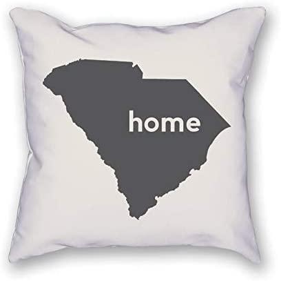 BYRON HOYLE South Carolina Homecushion Cover,Throw Pillow Cover,Rustic Linen Decorative Lumbar Pillowcase for Chair Room Sofa car,Home Decor