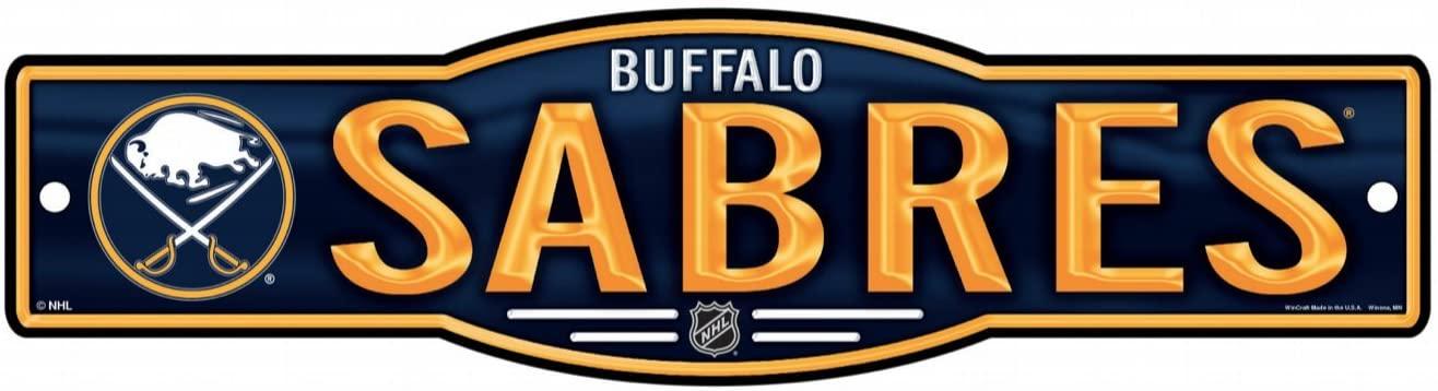 WinCraft NHL Buffalo Sabres 4''x17'' inch Plastic Street Sign