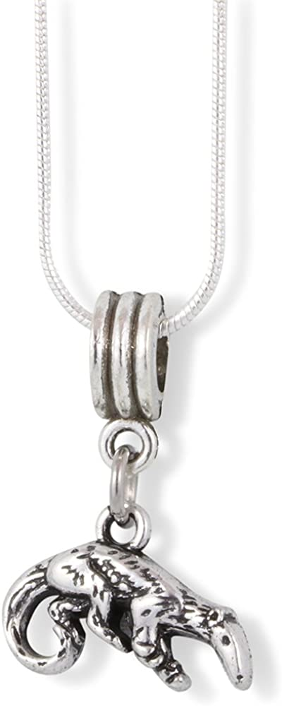 Ant Eater Anteater Charm Snake Chain Necklace