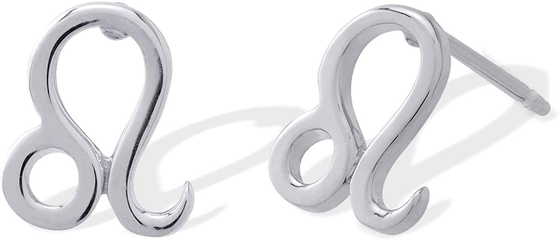 Boma Jewelry Sterling Silver Zodiac Sign Stud Earrings