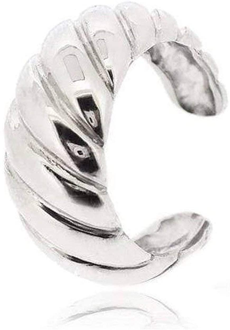 Sovats Ear Cuff Croissant Earrings For Women 925 Sterling Silver Rhodium Plated - Simple, Stylish Stud Earrings&Trendy Nickel Free Earring
