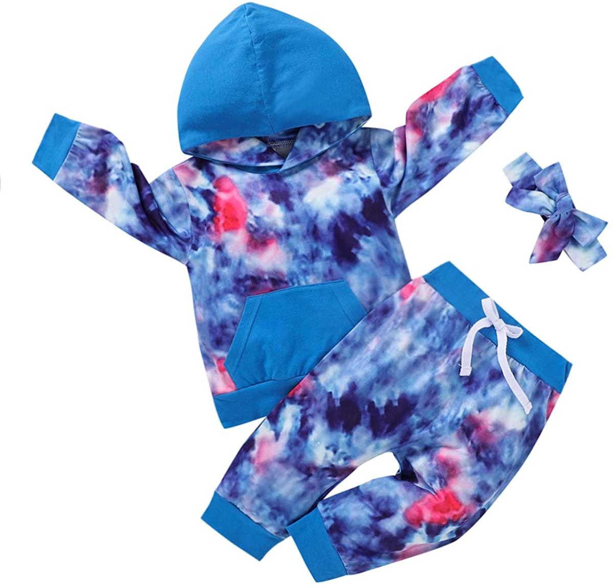 Newborn Baby Girl Clothes Toddler Hoddies Outfits Long Sleeve Sweatshirt Tops Infant Babies Pants Set