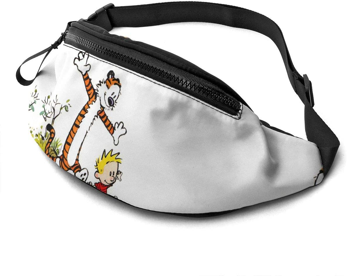 ROBETT Calvin-and-Hobbes Fanny Pack, Travel Sport Running Waist Pack Bag Casual Super Lightweight Fanny Pack For Men Women