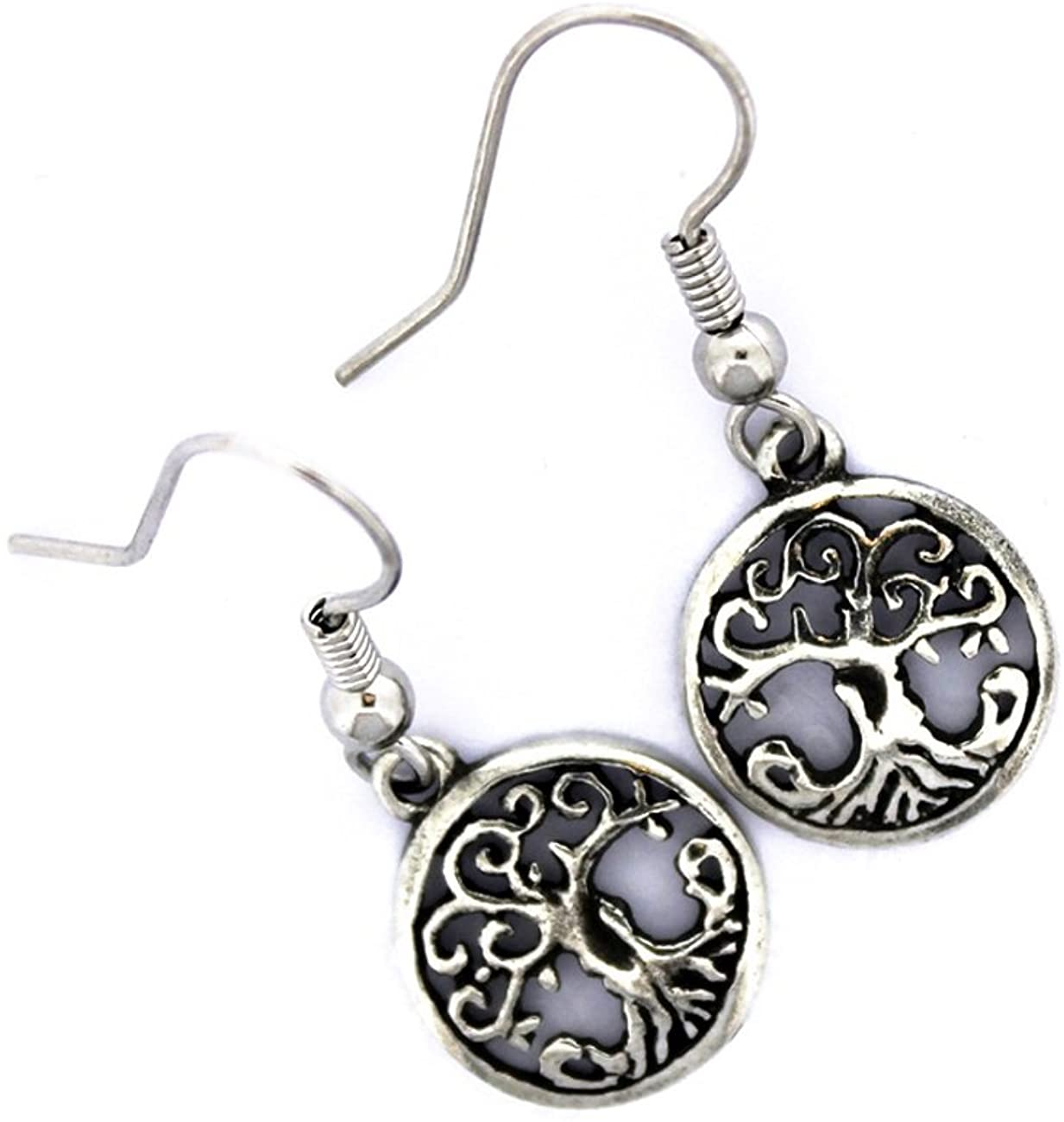 Tree of Life Earrings for Women Pewter Made in Ireland