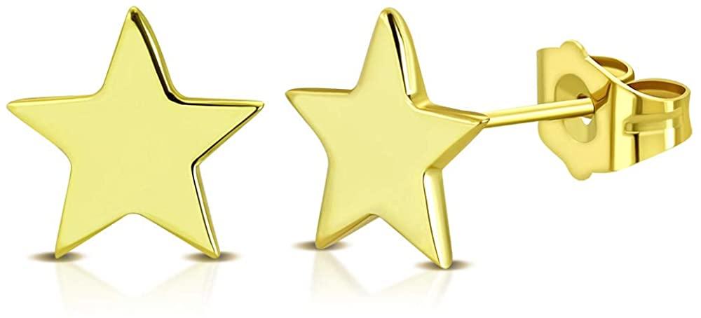 925 Sterling Silver Star Small Stud Earrings, 0.25