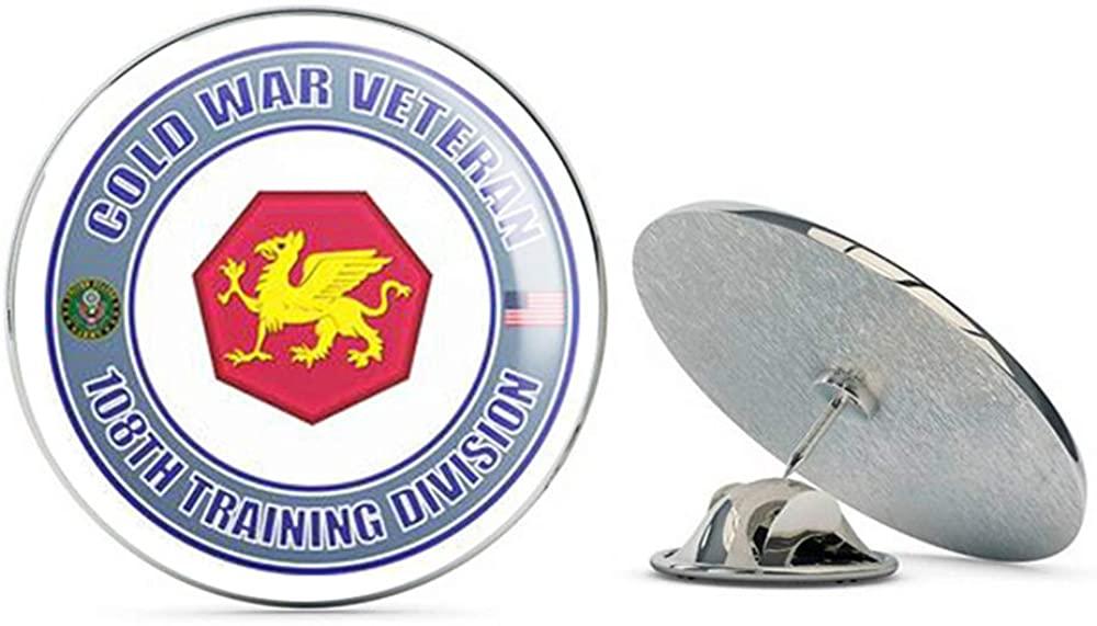 U.S. Army Cold War 108th Training Division Veteran Metal 0.75