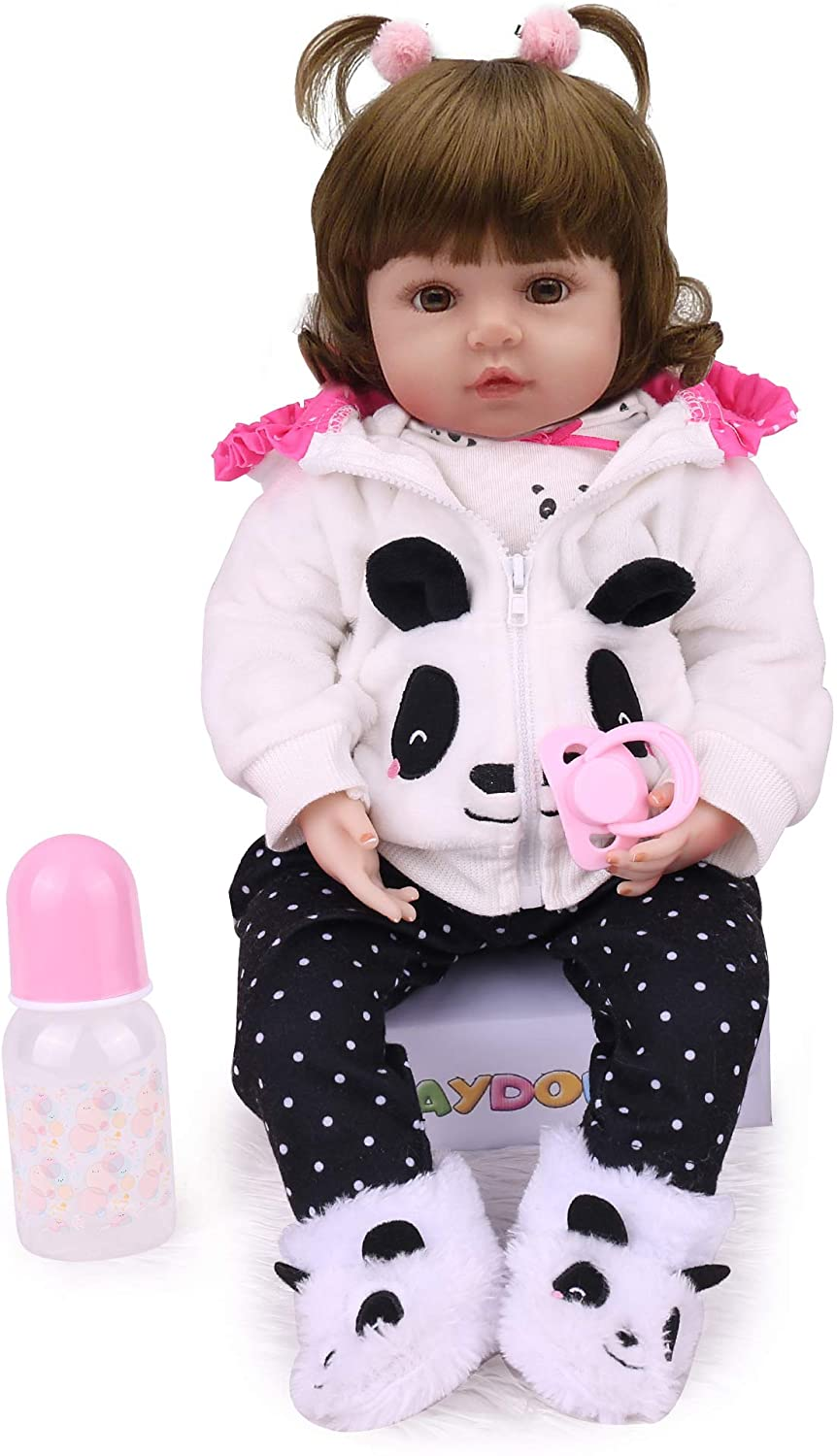 Kaydora Reborn Baby Doll,Realistic Reborn Toddler Girl,22 inch Weighted Baby Doll