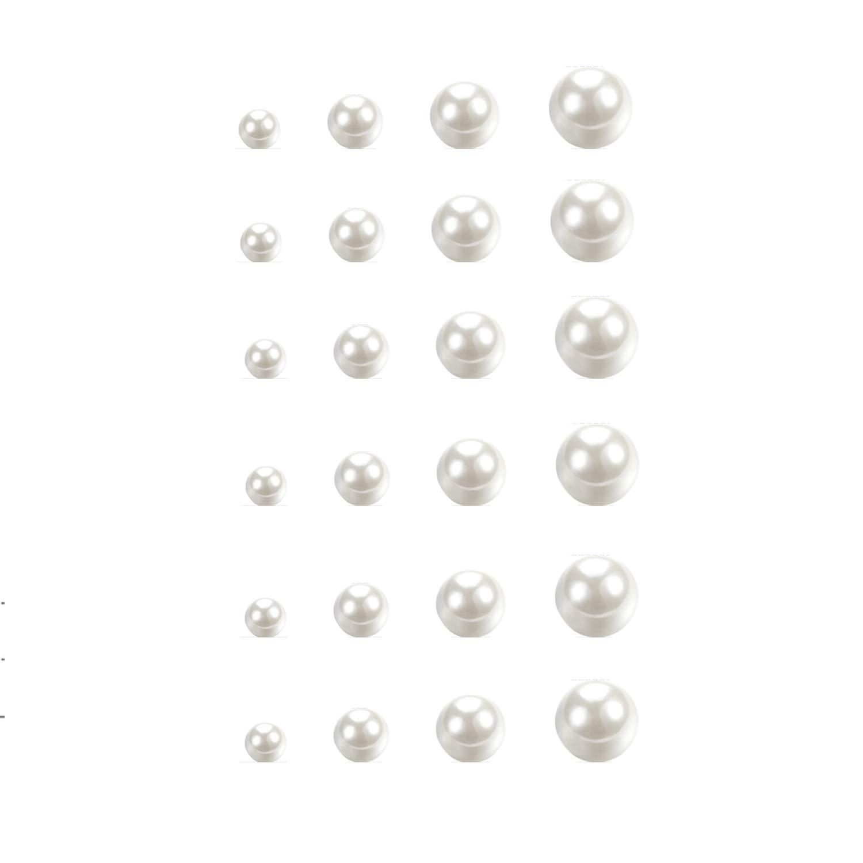 CHOP MALL Pearl Earrings Pearl Stud Earrings Set for Women Girls Faux Pearl Earrings of 12 Pairs, Mix Size