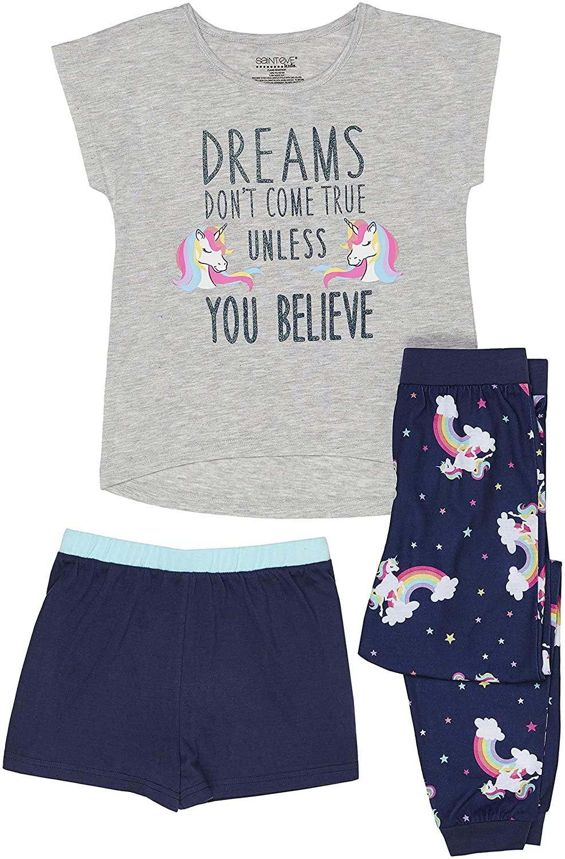 Girls Pajamas Set, Pajama Gown, Nightgown, Pajama Short Sleep Sets
